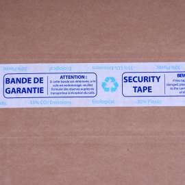 AIRTAPE  imprimé Bande de Garantie écologique sur fond blanc