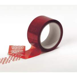 Ruban adhésif de sécurité TAMPERBOX 50mmx50ML Rouge