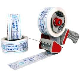 Pack rubans adhésifs écologique AIRTAPE imprimés bande de garantie + 1 dévidoir économique