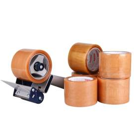 Pack rubans adhésifs polypropylène de 75mm + 1 dévidoir