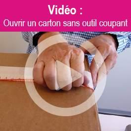 Ouvrir un carton sans outil coupant
